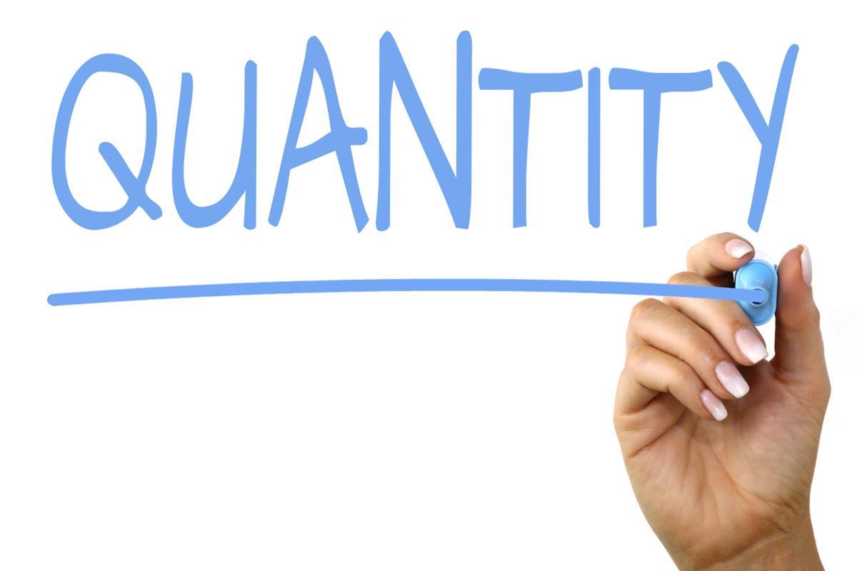 GO FOR QUANTITY